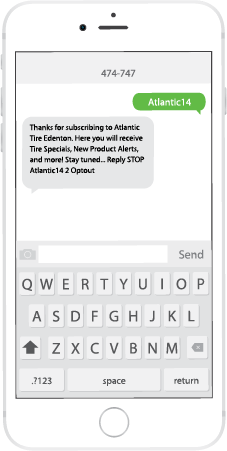 Text Atlantic to Sign Up!